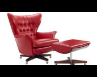 62 Chair and footstool Capri Red
